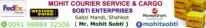 Mohit Courier Service and Cargo Sobti Enterprises