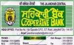 THE JALANDHAR CENTRAL COOPRATIVE BANK