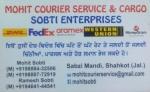 Mohit Courier Service and Cargo Sobti Enterprises